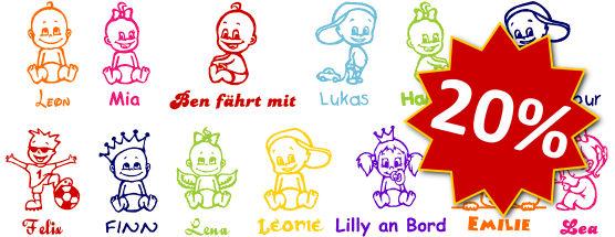 Babyaufkleber Baby An Bord Aufkleber Kinderaufkleber Online