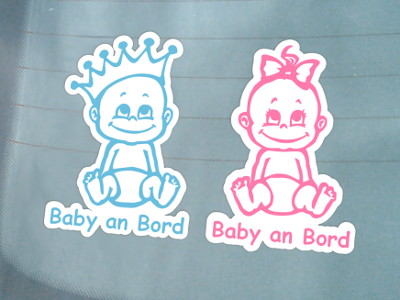 """Baby an Bord""-Stickers"