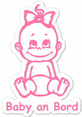 """Baby an Bord""-Stickers - Girl"