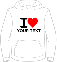 "Hoodie ""Your City"" Ladies - With red heart"