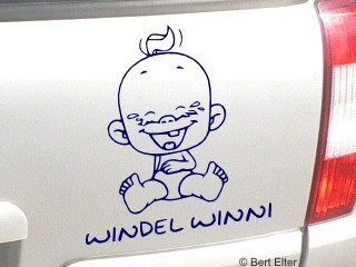 Windel Winni Babyaufkleber