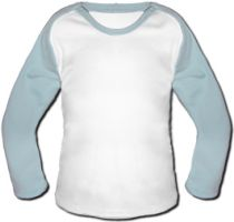 Photo Baby Baseball Shirt - Light Blue