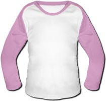 Photo Baby Baseball Shirt - Pink