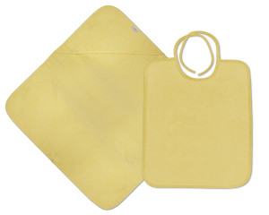 Hooded Towel + Bib Value Pack - Light yellow (1)