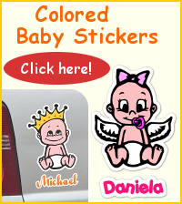 Colored baby stickers