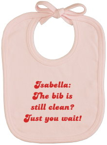 Imprinted Bib pink