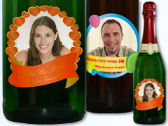 Bottle Labels with Photo