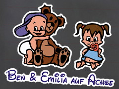 Colored Siblings Stickers with custom Motifs