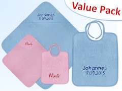 Hooded Towel + Bib Value Pack