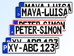 Licence Plate Sticker Set (2 pieces)